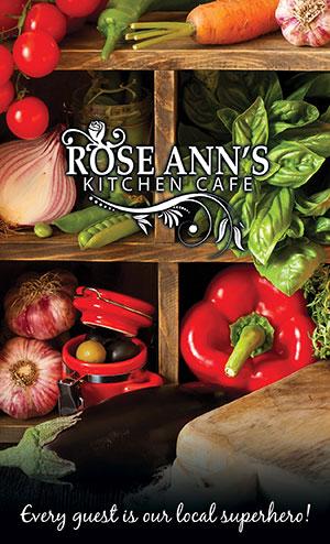 Rose Ann's Kitchen Main Menu